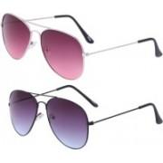 Highpride Aviator Sunglasses(Pink, Violet)
