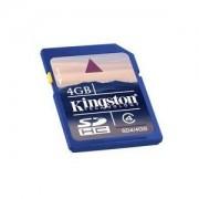 Memory Card Flash Memoria SD Kingston 4GB Originale in confezione Blister sigillata
