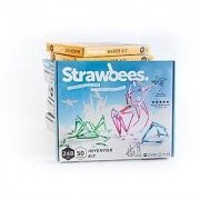 Strawbees Inventor Builder Kit - 50 Straws and 248 Connectors Set Educational & Creative Building Toy Tinkering & STEM