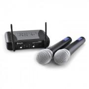 UHF trådlöst mikrofonset Skytec STWM722 2x mikrofoner
