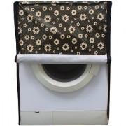 Black Floral Waterproof Dustproof Washing Machine Cover For Front Load Samsung WW85H7410EW 8.5 Kg Washing Machine
