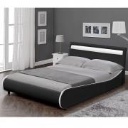 Corium® Moderní manželská postel HTB-1042 180x200 cm černá