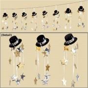 Ghirlanda decorativa pentru revelion happy new year hat - 3 m, amscan 221004, 1 buc