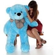 stuffed toy 4 Feet Cute Blue Fur Teddy Bear