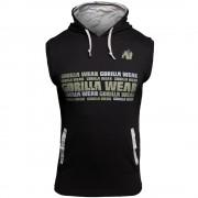 Gorilla Wear Melbourne Sleeveless Hooded T-shirt - Zwart - 4XL