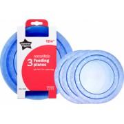 Set farfurii Tommee Tippee Essentials 3 buc Albastru