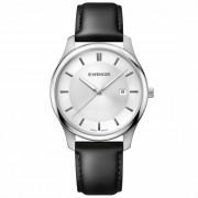 Wenger City Classic Reloj de cuarzo acero inoxidable white-silver-black