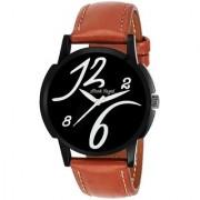 Mark Regal Round Dail Brown Leather StrapMens Quartz Watch For Men
