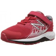 New Balance Boys' Urge v2 Hook and Loop Running Shoe, Red/Black, 2 W US Infant