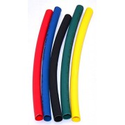 MA High Quality 4mm in 2 Mtr. Black Red Green Yellow Blue Polyolefin Assortment Ratio 2:1 Heat Shrink Tubing Tube Sleeving for Wrap