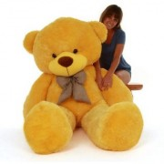 Super Cute Yellow 6 Feet Teddy Bear Yellow Teddy Bears Huggable And Loveable For Someone Special