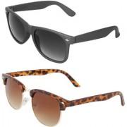 Zyaden Combo of Wayfarer Sunglasses Clubmaster Sunglasses (Combo-52)