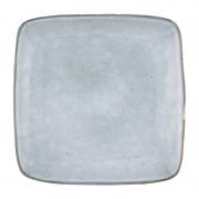 Xenos Vierkant bord Toscane - blauw - 25 cm