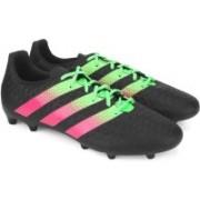 ADIDAS ACE 16.3 FG/AG Men Football Shoes For Men(Black, Green, Pink)