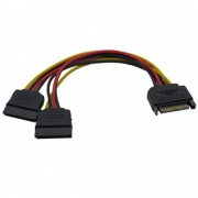 Cable, VCom, SATA Power splitter, 15-pin M / 2xFemale (CE360-0.15m)