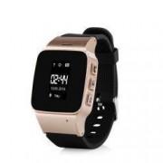 Ceas Smartwatch Pentru Adulti / Varstnici Wonlex EW100 cu Functie Telefon Localizare GPS Pedometru SOS - Auriu Bonus Cartela Prepaid Vodafone 10