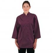 Chef Works Unisex Chefs Jacket Merlot XS Size: XS