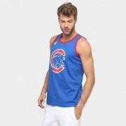 Camiseta Regata New Era MLB Double Stripe 2 Chicago Cubs - Masculino