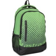 Fastrack A0678NGR01 25 L Laptop Backpack(Black, Green)