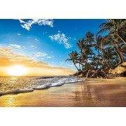 Puzzle Clementoni - Sunset on a Tropical Beach, 1.500 piese (60873)