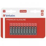 Baterija alkalna 1,5V AAA pk10 Verbatim 49874 LR03 blister 000024949