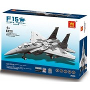 F 15 Eagle Army Fighter War Plane 270pcs Building Bricks Air Force Military Destroyer Aircraft Battle Bomber Jet Vehicle Building Blocks Compatible To Lego Parts Great Gift For Children