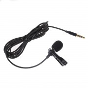 Lavalier Lapel Clip-on Omnidirectional Microphone TRRS 3.5mm Jack Handsfree 3.28ft Condenser Mini Recording Mic