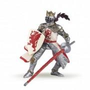 Figurina Papo - Rege cu blazon dragon (rosu)