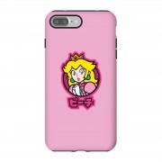Nintendo Funda móvil Nintendo Super Mario Peach Kanji para iPhone y Android - iPhone 7 Plus - Carcasa doble capa - Mate