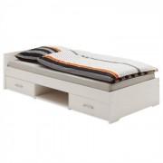 IDIMEX Lit fonctionnel en pin KAI, 90 x 200 cm, lasuré blanc