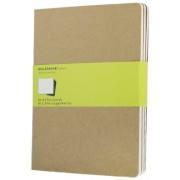 Moleskine: Sešity 3 ks čisté karton XL