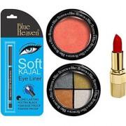Blue Heaven Lipstick Kajal Liner Eye Magic Eye Shadow (Set of 3)