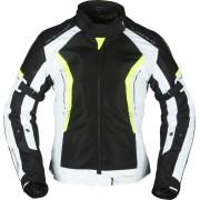 Modeka Khao Air Ladies Motorcycle Textile Jacket Black Grey Yellow 44