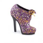Suport pentru pixuri - pantof mov cu animal print