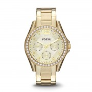 Fossil Zegarek FOSSIL - Riley ES3203 Gold/Gold