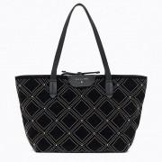 Patrizia Pepe Borsa Velluto Shopping a Spalla 2V7821 New Velvet Black