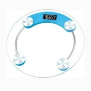 AmtiQ Digital Personal Body Weighing Scale with Temperature and Battery Indicator White display 180 kg Weighing Scale ( Blue ) Weighing Scale(Transparent)