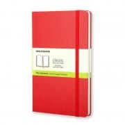 Moleskine QP012R Caderno 192 Folhas Vermelho