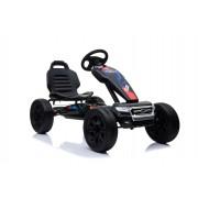 FORD Go Kart - Mașină cu pedale, negru, roți Eva, licență ORIGINAL