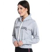 Raabta Grey Printed Baby Girl Sweatshirt