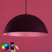 LED pendant light Bowl WiFi 51cm black