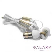 Slusalice REMAX RM-565i belo-zlatne