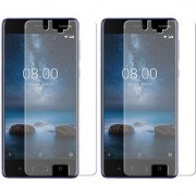 Deltakart Tempered Glass for Nokia 8 - Pack of 2