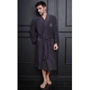 Five Wien Бамбуковый мужской халат темно-серого цвета с морской эмблемой Five Wien FW1352 Антрацит