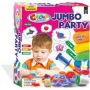 SHRIBOSSJI JUMBO PARTY DOUGH OR CLAY SET NON TOXIC WITH MANY SHAPES FOR KIDS/ CHILDREN (MULTICOLOR)