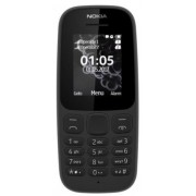 Telefon mobil Nokia 105 (2017), Dual Sim (Negru) + Cartela SIM Orange PrePay, 6 euro credit, 6 GB internet 4G, 2,000 minute nationale si internationale fix sau SMS nationale din care 300 minute/SMS internationale mobil UE