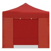 E-R Carpa plegable 2x2 resistente al agua Eco. Color Roja