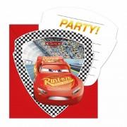 Disney Themafeestje Cars uitnodigingen 12 stuks