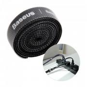 Curea Velcro pentru organizarea cablurilor , Baseus , 1m , negru