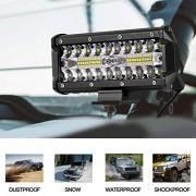 ELECTROPRIME Light lamp Tri Row LED Work Spot Offroad Vehicle SUV Aluminum Alloy Vehicles